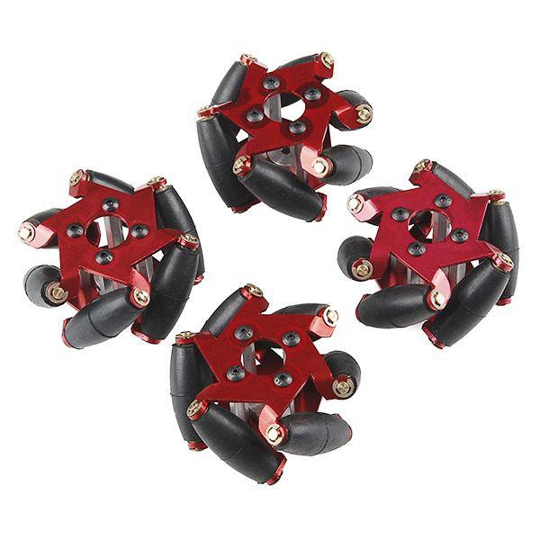 Mecanum wheels - 4 pack