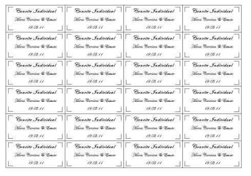 Dica de convite de casamento individual para editar e imprimir em casa