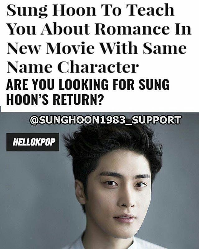 21 個讚,3 則留言 - Instagram 上的 Debbie Moh(@debbie_moh):「 #Repost @sunghoon1983_support ・・・ [ENG NEWS] #SUNGHOON To Teach You About Romance In New Movie With… 」