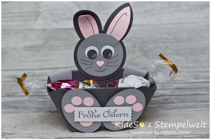 Osterkörbchen mit dem Envelope Punch Board von #StampinUp! #happyeaster