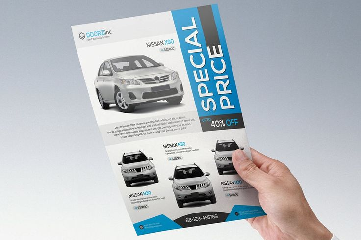 Car Sale Flyer by OrcShape on @creativemarket