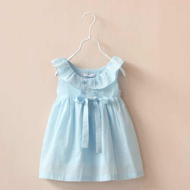 Department Name: Children Gender: Girls Dresses Length: Knee-Length Built-in Bra: No Pattern Type: Solid Silhouette: A-Line Model Number: 605045D Fit: Fits true to size, take your normal size Brand Na