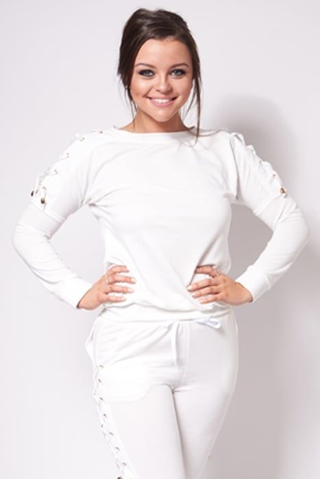 Ky White Lace Up Lounge Suit