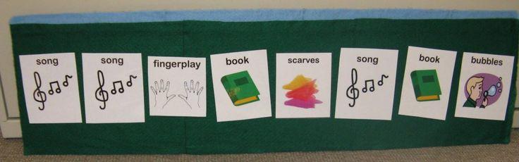 Ideas for a sensory storytime, like a visual schedule. I like that a lot!