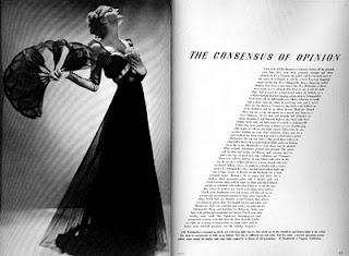 "Alexey-Brodovitch-designed spread from ""Haper's Bazaar"" in March, 1936."