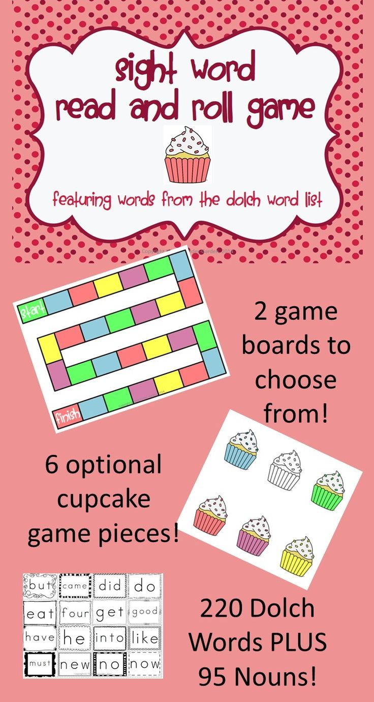 $This *sweet* game will help students learn sight words!  This game features 220 words form the Dolch sight word list PLUS 95 nouns identified as being high frequency words for OVER 300 words!