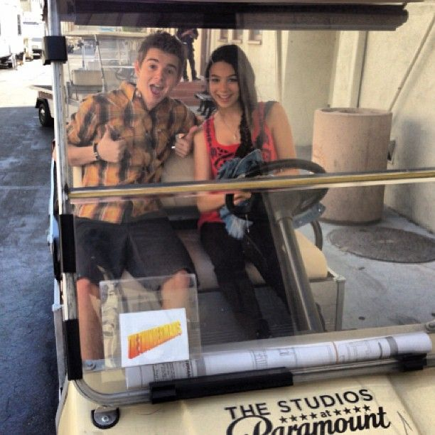 Jack Griffo and Kira Kosarin are having fun together!