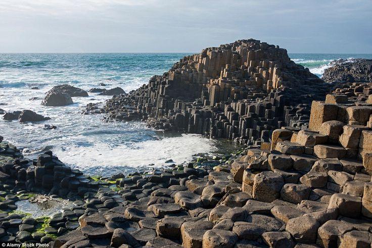 Giant's Causeway basalt columns in County Antrim, Northern Ireland