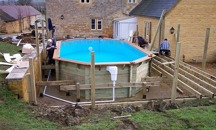 31 best how to build a pool deck images on pinterest for Pool installation cost