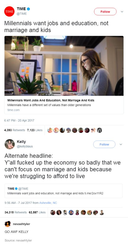 I don't really want kids anyway, just to graduate from college and start a career.