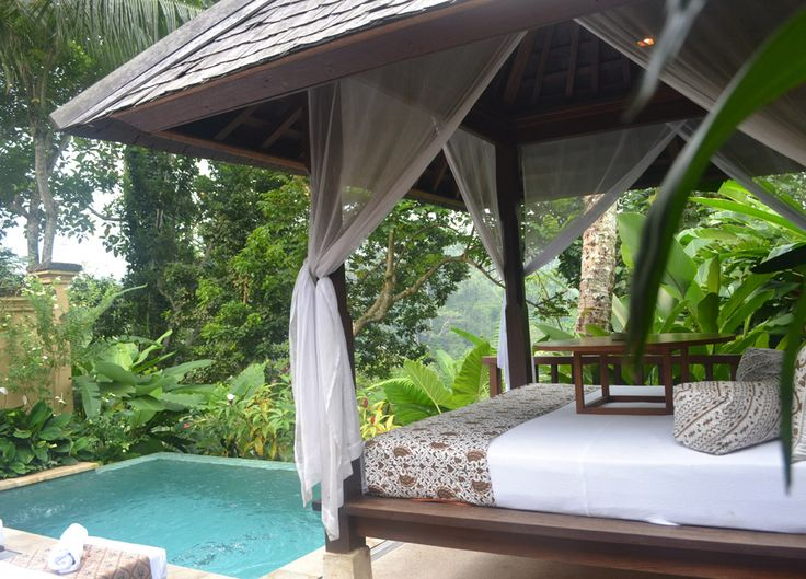 Bali outdoor retreat.Luxury travel at the Komaneka Tanggayuda Ubud in Bali Indonesia with luxury pool villas. For more on Bali and travel in Southeast Asia check our travel blog: http://live-less-ordinary.com/
