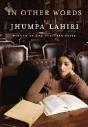 In other words / Jhumpa Lahiri ; translated from the Italian by Ann Goldstein