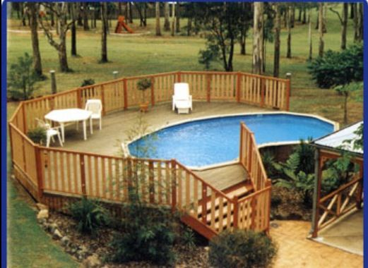 Ideas for an above ground pool that looks nice to the eyes.