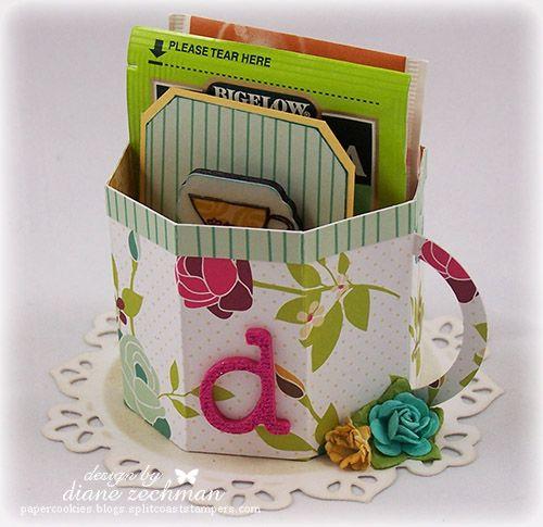 Tiny Teacups - Diane ZechmanCrafts Ideas, Boards Crafts, Paper Teacups, Crafts Papercraft, Gift Ideas, Cardmaking Ideas, Paper Projects, Paper Crafts, Crafty Ideas