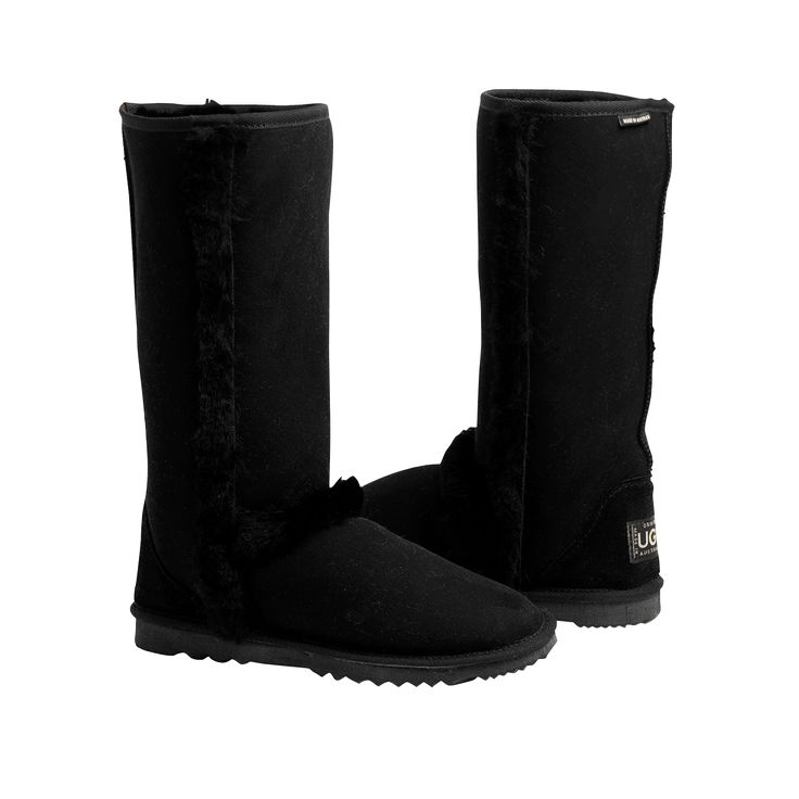 Arctic Tall Black Boots, Australian Made Sheepskin, #aussie #australianmade #sheepskin #boots #tallboots #shoedreams #comfy #cute #warm #indoors #home #outdoors #shoesaholic #black #blackboots #styling #fashion #outfit #fashioninspiration