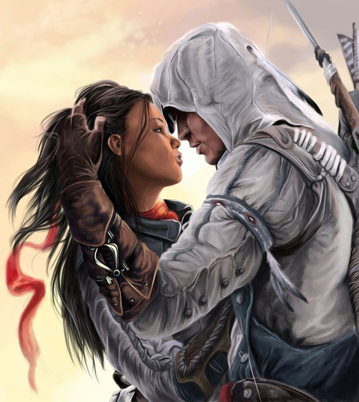 Connor and Aveline by ~Okiran9 on deviantART