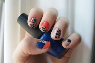 Fall geometric nails. Authentically Urban