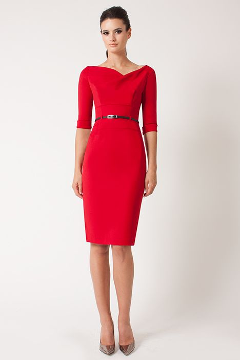 """Black Halo - 3/4 Sleeve Jackie O - Red 