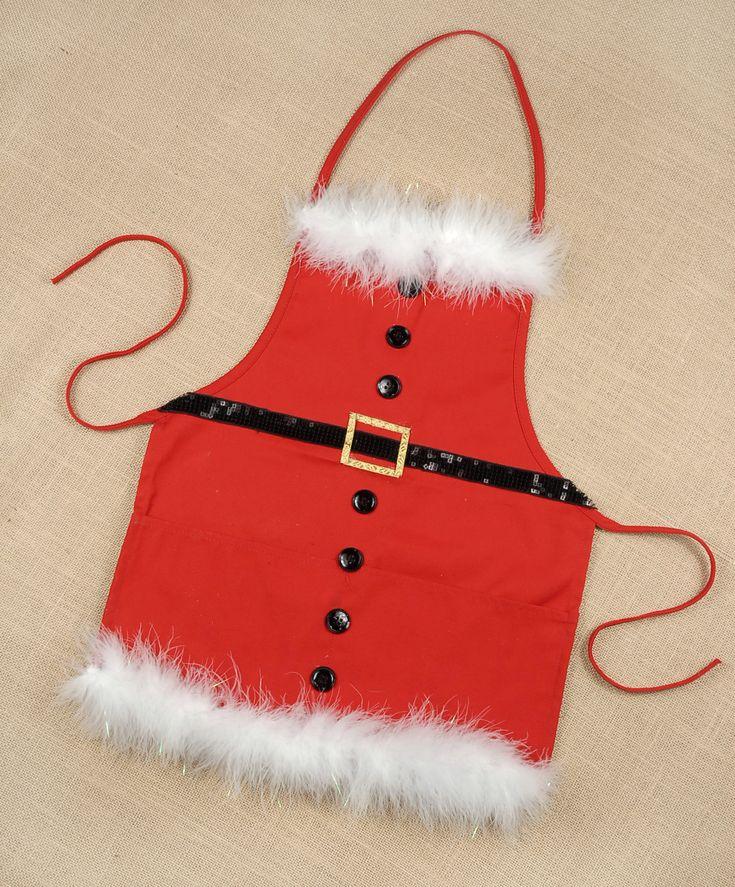 CUTE Christmas Apron idea, maybe not fluffy feathery stuff