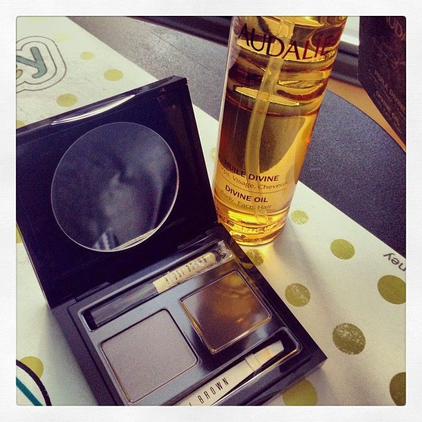 Bobbi brown for my eyebrow and caudalie for skin care.