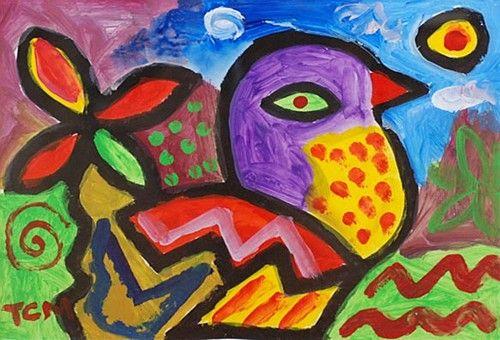 "TC Murphy, ""Mystic Bird"" #art #bird #painting #bright #DukeStreetGallery"