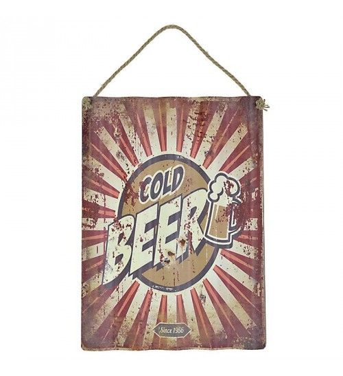 METAL WALL PAINTING  'BEER' 30X40_55
