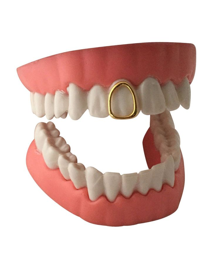 Open Face Grillz Grill 14K GP Single Tooth Cap w/Mold Kit
