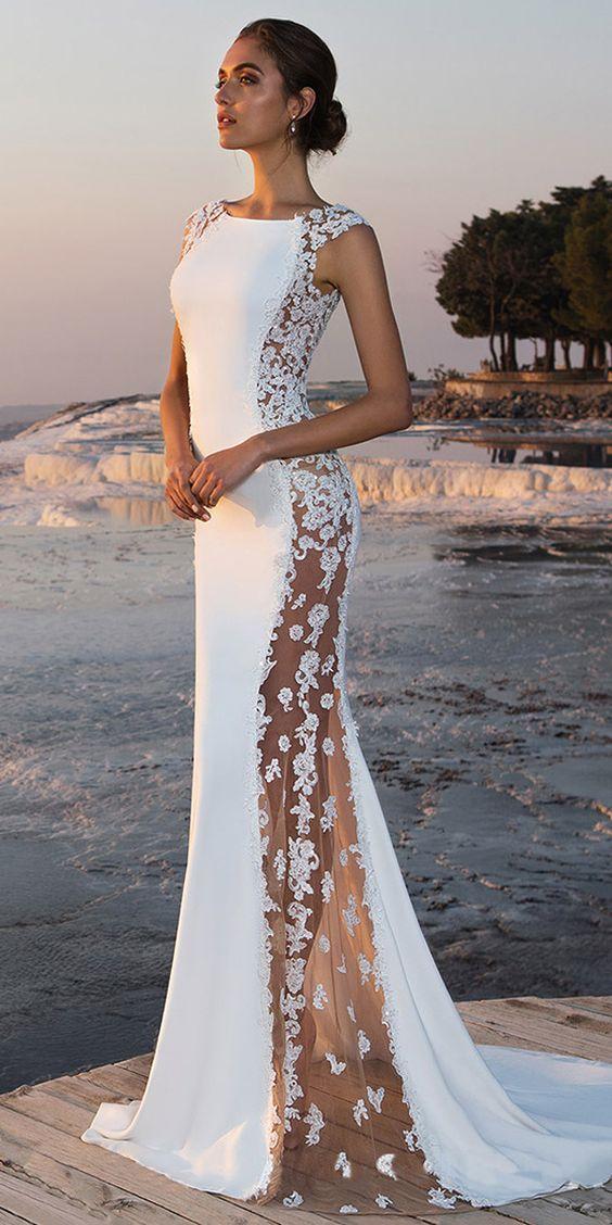 939c11638f375 2019 dantelli gelinlik modelleri   Kadın Giyim ve Moda   moda de ...