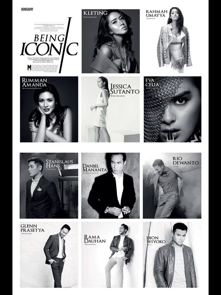 IKONOGRAPHY 2014  KUNINGAN CITY  for MEN'S FOLIO  1st ANNIVERSARY ISSUE  DANIEL MANANTA RAHMAH UMAYYA GLENN PRASETYA JESSICA SUTANTO DION WIYOKO STANISLAUS HANS KLETING EVA CELIA RIO DEWANTO  RUMMAN ANANDA RAMA DAUHAN