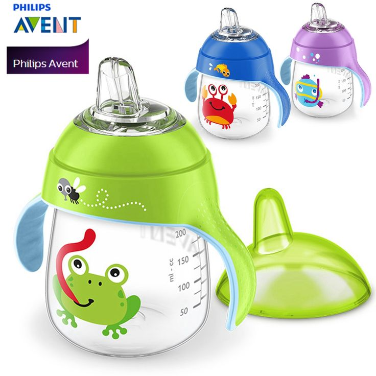 AVENT 260ml/9oz Cartoon Baby Soft Spout Cup Water Drinking BPA Free Bottle Child Feeding Cup