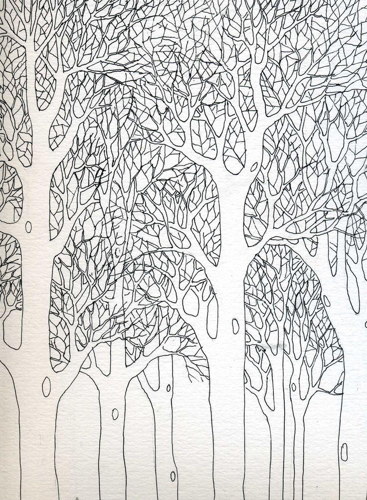 alberi d'inverno,china
