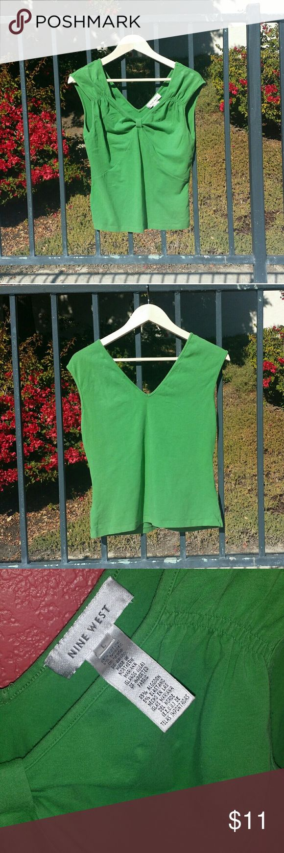 Nine West T-Shirt Cute v-neck green t-shirt by Nine West. Nine West Tops Tees - Short Sleeve