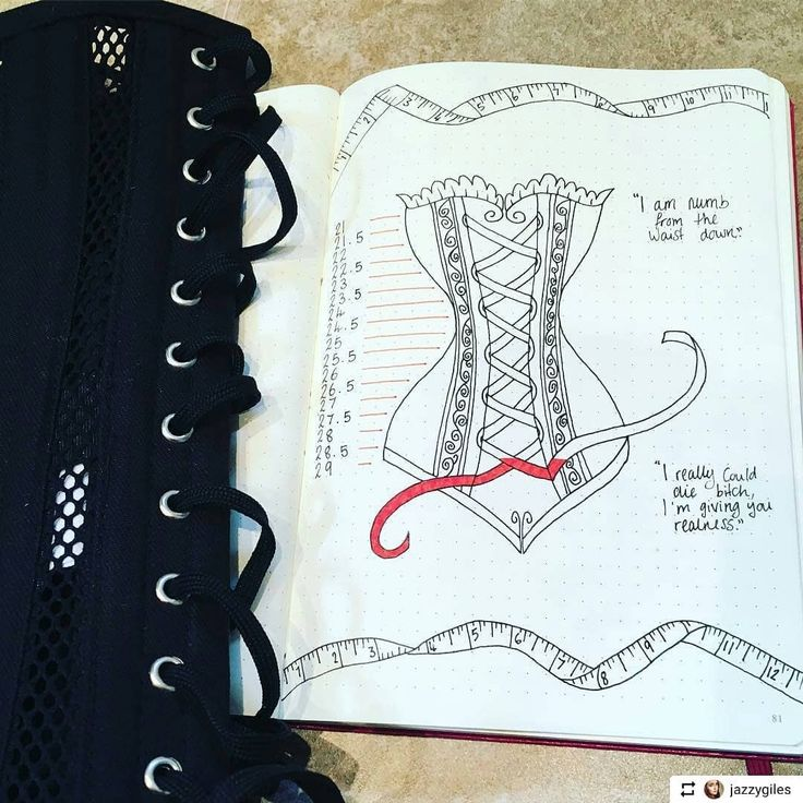 Bullet journaling & corsets a match made in heaven #meshcorset #Repost  @jazzygiles with