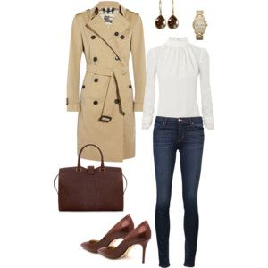 Trench coat + casual jeans