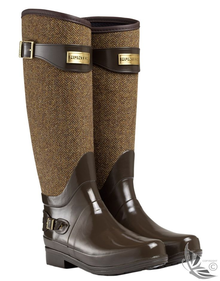 Hunter Ladies' Regent Apsley Wellington Boots - Chocolate  $145