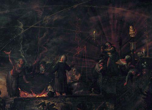 Шабаш ведьм (подробно) Франса Франкена II, 1607.
