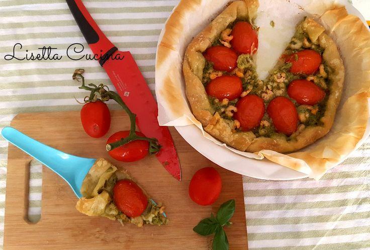 Torta salata con pesto, pomodori e gamberetti senza glutine http://blog.giallozafferano.it/lisettacucina/torta-salata-pesto-pomodori-gamberetti-senza-glutine/