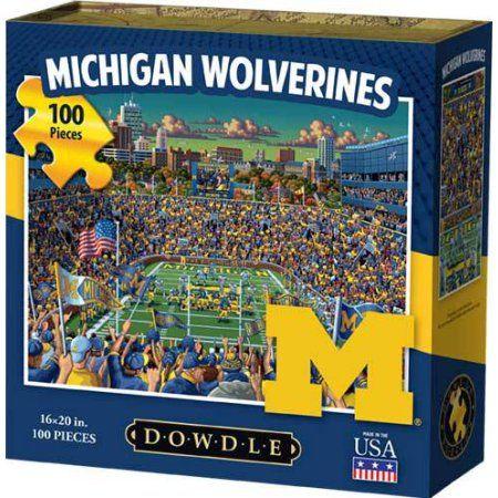 Dowdle Jigsaw Puzzle - Michigan Wolverines - 100 Piece