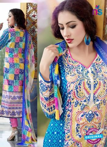 SC 13648 Blue and Pink Printed Glace Satin Cotton Designer Fancy Ethnic Exclusive Salwar Straight Suit.  #onlineshoppingcotton #cottonsalwarsuits #lovely #newshop