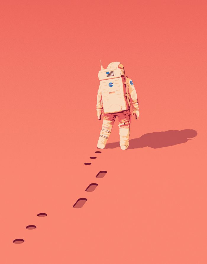 """The Martian"" Art Print by Matt Harrison Clough on Society6."