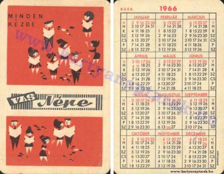 1966 - 1966_0098 - Régi magyar kártyanaptárak