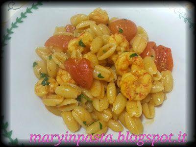maryinpasta: Gnocchetti sardi con gamberetti e zafferano