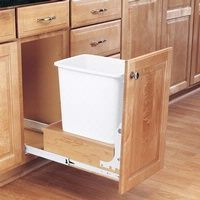Single and Double Pullout Waste Containers, Rev-a-Shelf 4WC Series - Rockler Woodworking Tools