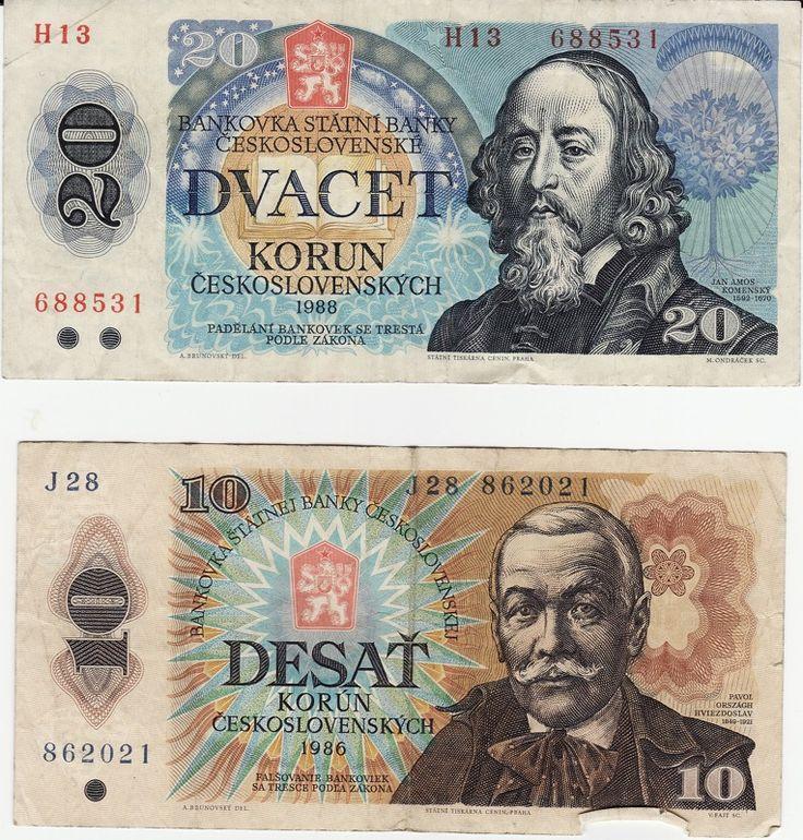 Historical Czecho-Slovak Money