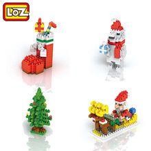 LOZ Строительные Блоки Санта-Клауса Рождественские Чулки Рождественская елка Белый Медведь Рождественский Подарок Игрушки для Детей 9 + украшения(China (Mainland))
