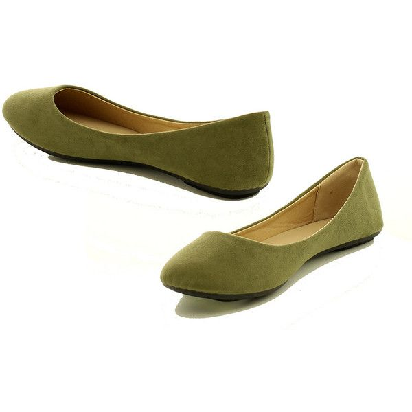 Women's Mata Shoes Mata Womens Casual Comfy Ballet FlatsOlive/6 ($20) ❤ liked on Polyvore featuring shoes, flats, green, skimmer flats, ballet pump shoes, ballet flat shoes, ballet flats and ballerina pumps