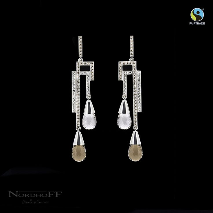 You will feel extra special wearing these Fairtrade silver and Argyle diamond earrings knowing you have contributed to a brighter and happier future for the miners and families.