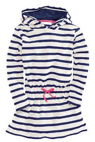 Stripe Hooded Towelling Dress (3-16yrs) - Next £14