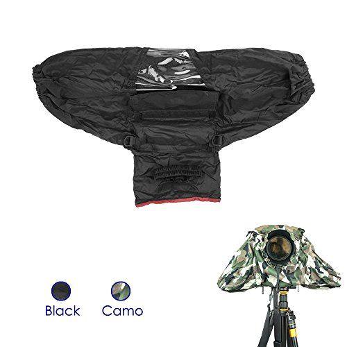 FoRapid+Deluxe+Professional+Camera+Rain+Cover+Rain+Jacket+Raincoat+Waterproof+Rain+Cover+Protective+Cover+Sleeve+for+Canon+Nikon+Sony+Panasonic+Pentax+Olympus+Fuji+DSLR+with+Long+Lens+Black