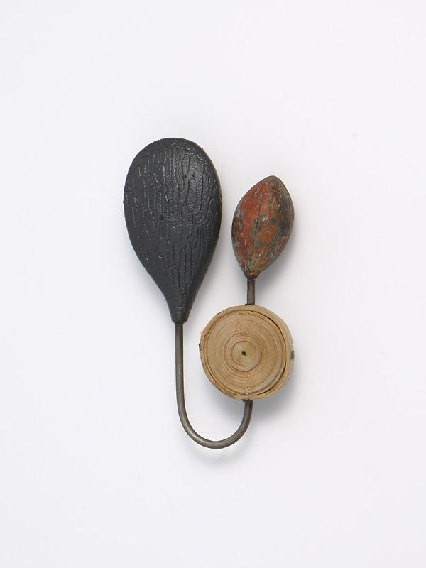 Heejoo Kim - Small Life - brooch, sterling silver, enemaled copper, paper, 2009.
